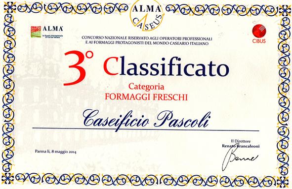 Squacquerone di Romagna DOP - Terzo Classificato